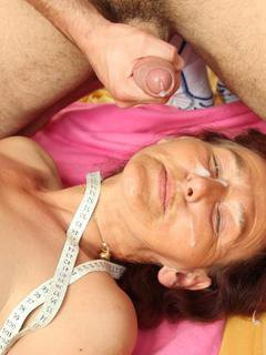 Young dick meat inside the hot grandma and she ends the gallery with a sticky facial cumshot