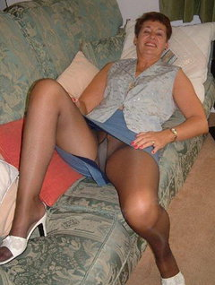 in tights grannies Sexy
