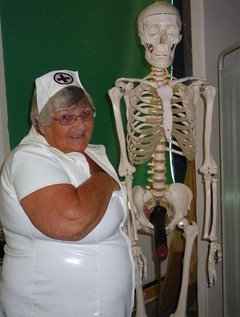 Nurse Libby has great fun when attending to a patient I guess I am trying to breathe some life into himWhat do you t