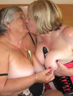 Lesbian fun as Grandma is joined by Auntie Trisha.Lots of kissing and caressing as we explore and enjoy each others bo