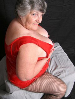 Grandma Libby knows ho0w many of her members and would-be members love the combination of tight shiny PVC and tights, or