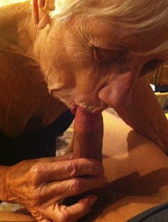 Lots of pictures of 92 year old Granny Marge sucking my cock.