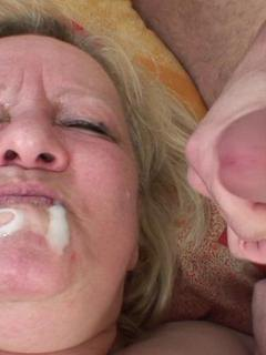 The mature wants cock meat inside her pussy and he unlocks her passion for sex and a big load