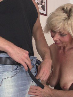 One look at his thick wood, and this granny knew she wanted to be pummeled.