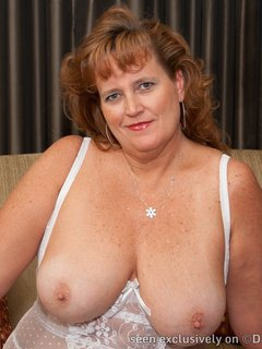 Dawn Marie in Corset and White Stockings
