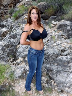 Tight Blue Jeans Outside / Picture # 3