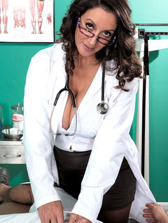 The Doctor Has Big Tits, A Hairy Pussy And A Dick-sucking Mouth / Picture # 2