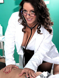 The Doctor Has Big Tits, A Hairy Pussy And A Dick-sucking Mouth / Picture # 5