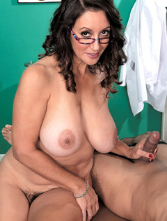 The Doctor Has Big Tits, A Hairy Pussy And A Dick-sucking Mouth / Picture # 11