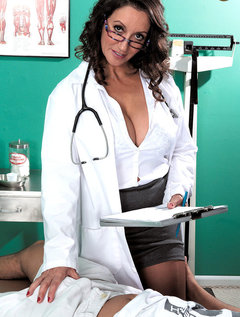 The Doctor Has Big Tits, A Hairy Pussy And A Dick-sucking Mouth / Picture # 1