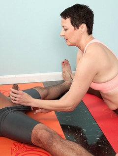 The Yoga Instructor Isn't Wearing Panties!