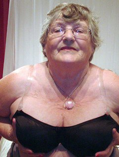 Granny in her pantyhose once againI know how many of you love to see my big fat ass and belly encased in tight pantyho