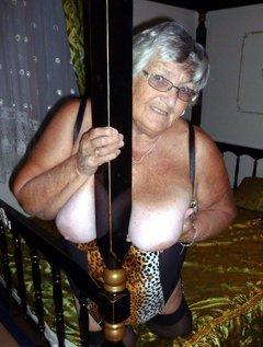 If you like to see Grandma Libby fucking herself with a big black dildo then come on in and join me.Tight animal print