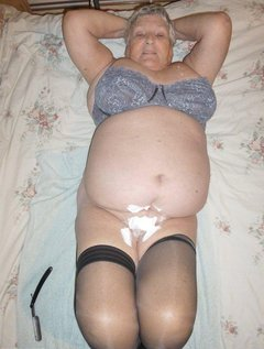 Grandma Libby shows you how she achieves that lovely smooth bodyHere you see me with a cut throat razor and shaving cr