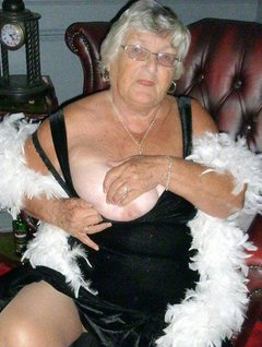 Grandma Libby wearing her posh frock again with tightsPosing and undressing and showing you all once more my lovely so