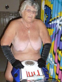 Bet you didnt know that Grandma Libby was a bikerI still have a full motorbike licence.It was great to find this bik