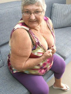 Grandma Libby loved this new purple outfitand when I found some animal print lingerie trimmed with the same colour to