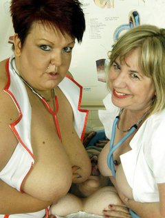 OOOOER Grandma needs a hospital visit for a check up.I was so lucky to have these two delectable young nurses attend t