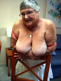 A pretty new summer top teamed up with sexy red lingerie.Once again on holiday in Spain your fat old grandma hastime