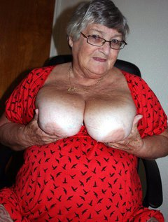 Your fat old granny loves showing off for you so when I dressed this morning, wearing my lovely bright red dress with sl