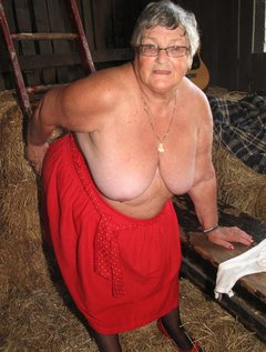 Frolicking in the hayAs always your favourite old BBW granny loves getting her kit off wherever she isI found this s