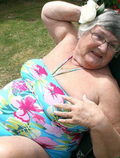 Grandma enjoys relaxing in the warm sun in the garden but invariably I find the warmth of the sun starts to make me feel