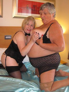 Grandma Libby and Auntie Trisha get together for a very sexy afternoon in the bedroom.What fun we have playing and exp