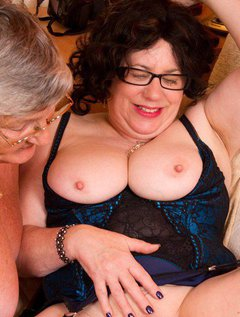 Once again Grandma Libby visits her special friend auntie Trisha for some sexy lesbian fun.Come see us pleasure each o