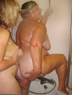 Showering is much more exciting g when my friend Trisha offers to wash my backAs you can see here we get up to much mo