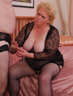 Cum join me on my hot time with James. I'm in the mood to dress up James in fishnet nylons and sexy crotchless lacy pant