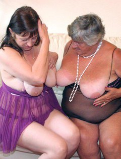 More lesbian sex for Grandma when her beautiful friend came to visit.She has such beautiful nipples for me to suck.