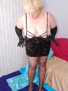 Mmm, this little sparkly black dress is so tarty plus the stretchy neckline makes it easy to expose my boobies, wink. To