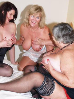 Three luscious ladies for you to feat your eyes on.Nothing like a sexy threesome to get Granny going.Fingering and s